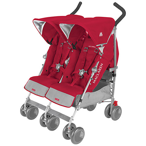Buy Maclaren Twin Techno Pushchair, Persian Rose Online at johnlewis.com