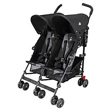Buy Maclaren Twin Triumph Stroller, Black/Charcoal Online at johnlewis.com