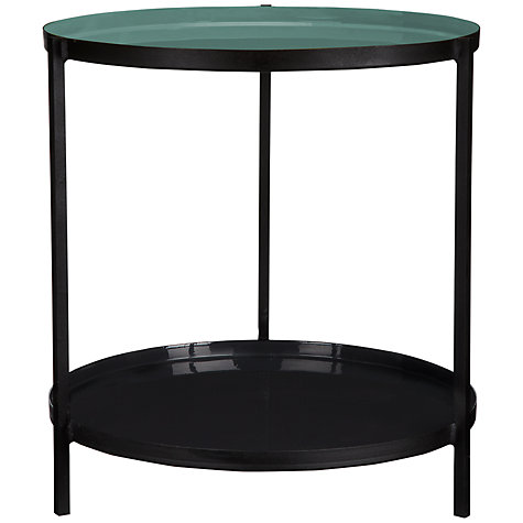 Buy Content by Conran 2 Tier Enamel Side Table, Opal Online at johnlewis.com