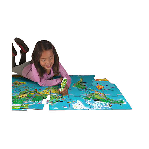 Buy LeapFrog Tag Junior, Read & Learn, World Map Jumbo Puzzle Online at johnlewis.com