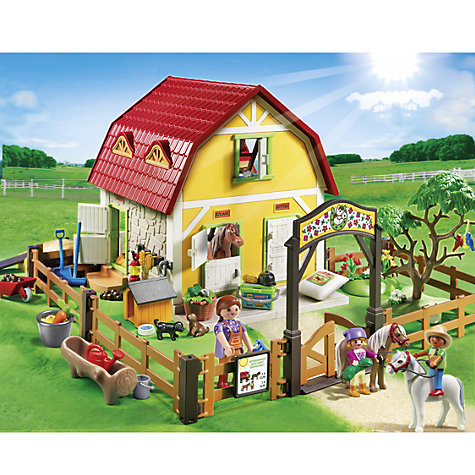 Buy Playmobil Children's Pony Farm Online at johnlewis.com