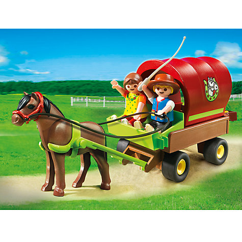 Buy Playmobil Children's Pony Wagon Online at johnlewis.com