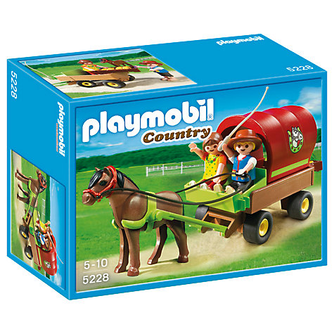 Buy Playmobil Country Children's Pony Wagon Online at johnlewis.com