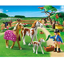 Buy Playmobil Paddock with Horses and Foal Online at johnlewis.com