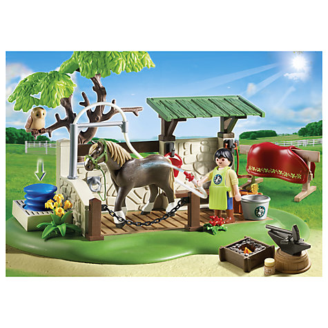 Buy Playmobil Horse Care Station Online at johnlewis.com