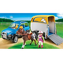 Buy Playmobil Country SUV with Horse Trailer Online at johnlewis.com