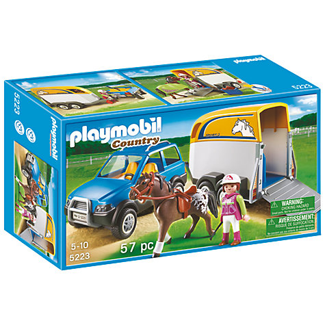 Buy Playmobil SUV with Horse Trailer Online at johnlewis.com