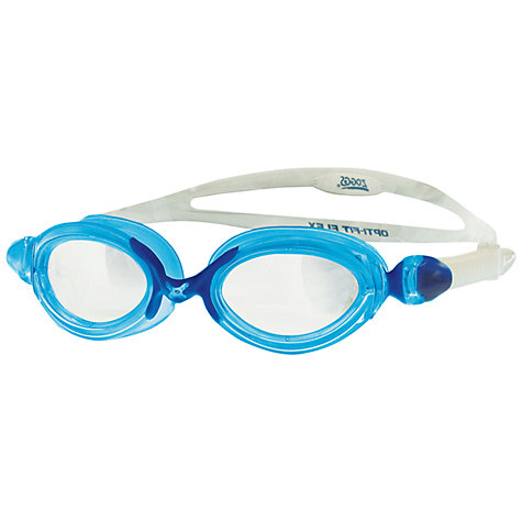 Buy Zoggs Opti-Fit Flex Swimming Goggles, Clear/Blue Online at johnlewis.com