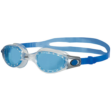 Buy Zoggs Phantom Elite Swimming Goggles, Blue/Clear Online at johnlewis.com