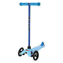 Buy Limited Edition Mini Micro T-Bar Scooter, Candy Blue Online at johnlewis.com