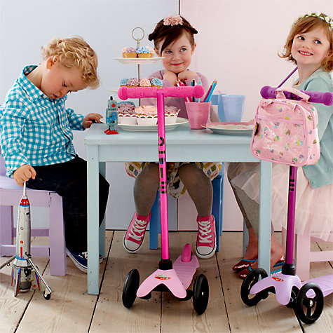 Buy Limited Edition Mini Micro T-Bar Scooter, Candy Pink Online at johnlewis.com