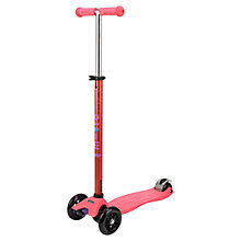 Buy Micro Special Edition Maxi Micro Scooter, Coral Online at johnlewis.com