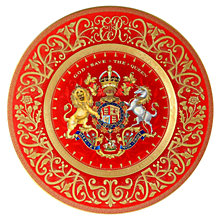 Buy The Royal Collection Limited Edition Coronation Dessert Plate Online at johnlewis.com