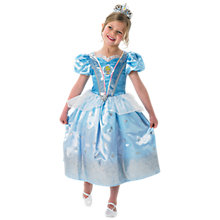 Buy Disney Princess Glitter Cinderella Dressing-Up Costume Online at johnlewis.com