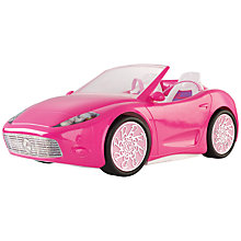 Buy Barbie Glam Convertible Car, Pink Online at johnlewis.com