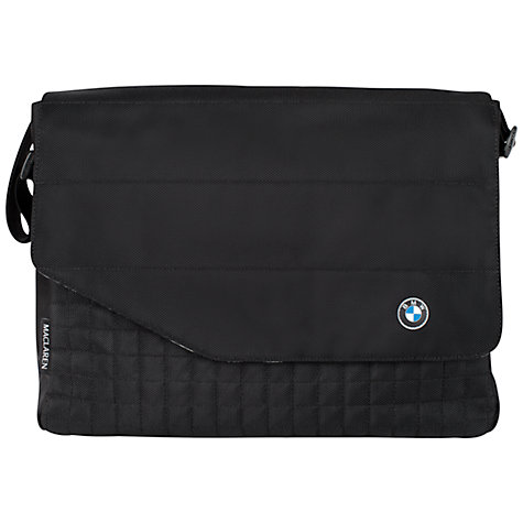Buy Maclaren BMW Messenger Changing Bag, Black Online at johnlewis.com