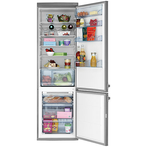 Buy John Lewis JLSS2019 Fridge Freezer, A+ Energy Rating, 60cm Wide, Stainless Steel Online at johnlewis.com