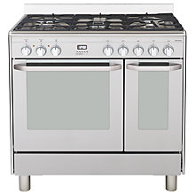 Buy John Lewis JLRC906 Dual Fuel Range Cooker, Stainless Steel Online at johnlewis.com