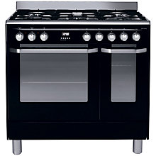 Buy John Lewis JLRC907 Dual Fuel Range Cooker, Black Online at johnlewis.com