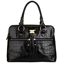 Buy Modalu Pippa Crocodile Large Leather Grab Bag Online at johnlewis.com