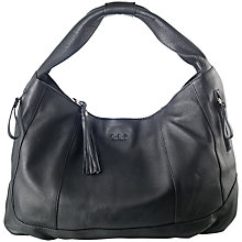 Buy O.S.P OSPREY Milan Nappa Large Hobo Handbag, Black Online at johnlewis.com