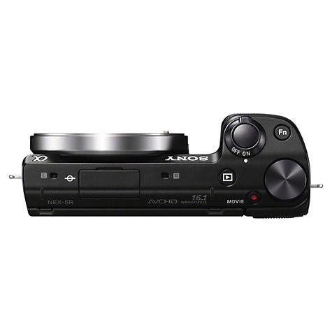 "Buy Sony NEX-5RL Compact System Camera with 16-50mm PZ Lens, 1080p, 16.1MP, Wi-Fi, 3"" Touchscreen, Black Online at johnlewis.com"