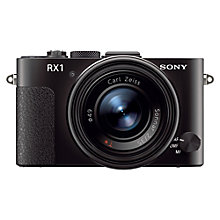 "Buy Sony DSC-RX1 Digital Camera, HD 1080p, 24.3MP, 3"" LCD Screen Online at johnlewis.com"