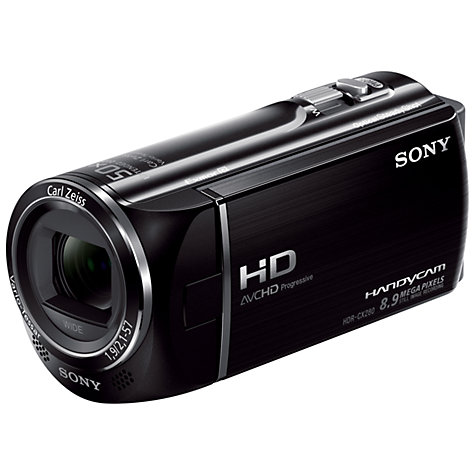 "Buy Sony HDR-CX280E HD 1080p Camcorder, 8.9MP, 27x Optical Zoom, OIS, 2.7"" LCD Screen, Black Online at johnlewis.com"
