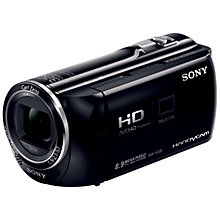 "Buy Sony PJ220E HD 1080p Camcorder, 8.9MP, 27x Optical Zoom, 2.7"" LCD Screen with Projector Online at johnlewis.com"