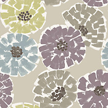 Buy John Lewis Zinnia Wallpaper, Cassis Online at johnlewis.com