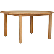 Buy Kettler Vancouver 6 Seater Round Outdoor Dining Table, FSC Teak Online at johnlewis.com