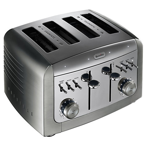 Buy Breville VTT311 Elements Premium 4-Slice Toaster, Stainless Steel Online at johnlewis.com