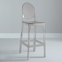 Buy Kartell One More Bar Chair, Crystal Online at johnlewis.com