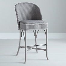 Buy Lloyd Loom Newmarket Bar Chair, Arctic Grey Online at johnlewis.com