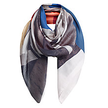 Buy Jigsaw Beach Hut Spot Scarf, Blue Online at johnlewis.com