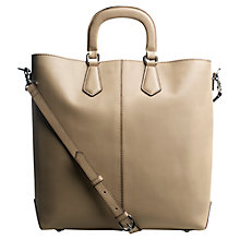 Buy Jigsaw Mo Tote Handbag, Oyster Online at johnlewis.com
