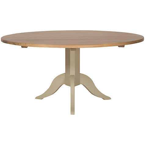 Buy Neptune Chichester 8-Seater Pedestal Oak Dining Table, Limestone Online at johnlewis.com