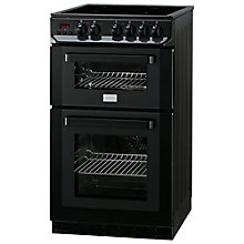 Buy Zanussi ZCV563DN Electric Cooker, Black Online at johnlewis.com