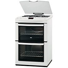 Buy Zanussi ZCG660GWC LPG Gas Cooker, White Online at johnlewis.com