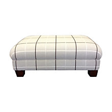 Buy John Lewis Todd Footstool, Holywell Check Online at johnlewis.com