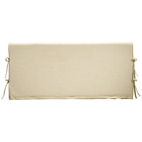 Buy John Lewis Hambledon Headboard, Linen, Single Online at johnlewis.com