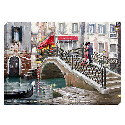Buy Richard Macneil - Lovers, Venice Bridge Print on Canvas, 70 x 100cm Online at johnlewis.com
