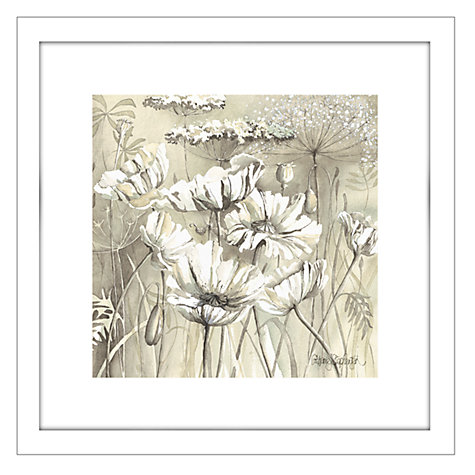 Buy Catherine Stephenson - Neutral White Poppy Pods 1 Framed Print, 44 x 44cm Online at johnlewis.com