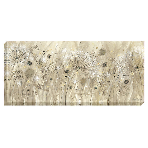 Buy Catherine Stephenson - Neutral Floral Pods Print on Canvas, 60 x 135cm Online at johnlewis.com