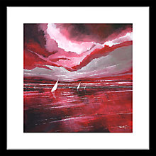 Buy Stuart Roy - Red Horizon 1 Framed Print, 62 x 62cm Online at johnlewis.com