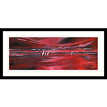 Buy Stuart Roy - Red Horizon Framed Print, 49 x 104cm Online at johnlewis.com