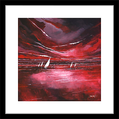 Buy Stuart Roy - Red Horizon 2 Framed Print, 62 x 62cm Online at johnlewis.com