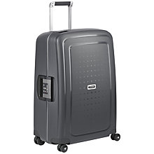 Buy Samsonite S'cure Delux 4-Wheel 55cm Cabin Suitcase, Graphite Online at johnlewis.com