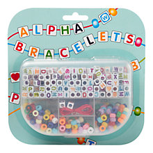 Buy Make Your Own Alpha Bracelets Kit Online at johnlewis.com