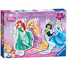 Buy Disney Princess Large Shaped Puzzles, Pack of 4, 52 Pieces Online at johnlewis.com